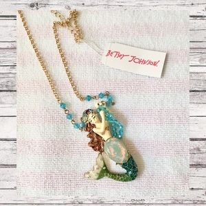 """🆕 Betsey Johnson """"Into the Blue"""" Mermaid Necklace"""